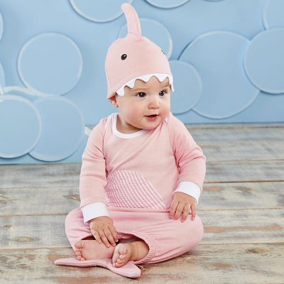 "Baby Aspen ""Let The Fin Begin"" Two-Piece Layette Set (Pink)"