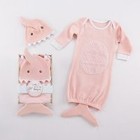 """Baby Aspen """"Let The Fin Begin"""" Two-Piece Layette Set (Pink)"""