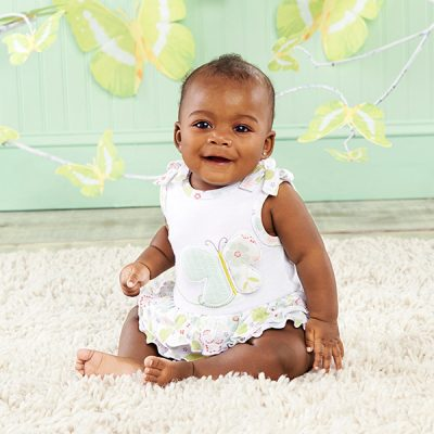 "Baby Aspen ""Butterfly Kisses"" Tunic and Bloomer Set"