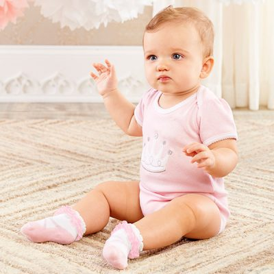 "Baby Aspen ""Little Princess"" Bodysuit and Sock Gift Set"