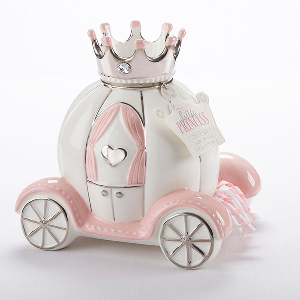 "Baby Aspen ""Little Princess"" Ceramic Carriage Bank"