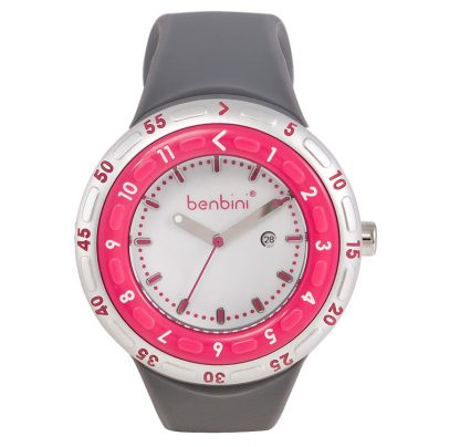 The Benbini Mommy Watch in Gray and Pink