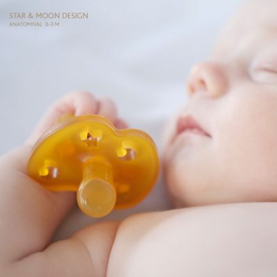 Hevea Star and Moon Orthodontic Pacifier Infants
