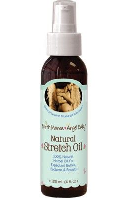 Earth Mama Angel Baby Natural Stretch Oil offers a natural and safe, effective stretch mark prevention cream.