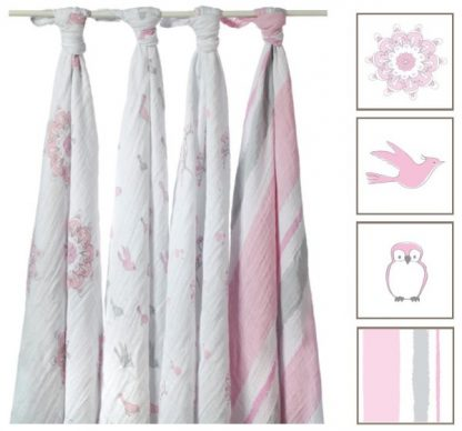 Aden and Anais For the Birds Swaddling Blankets