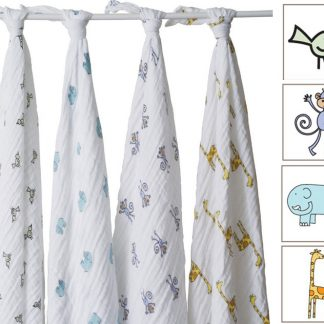 Aden and Anais Swaddle Blanket Jungle Jam Set of 4