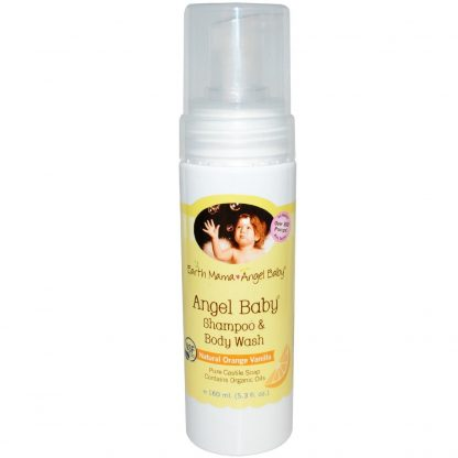 Earth Mama Angel Baby Shampoo and Body Wash, 5.3 oz