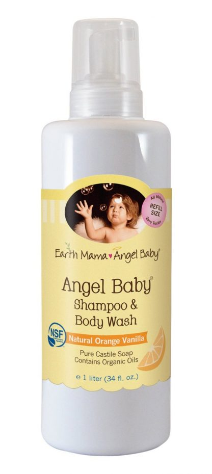 Earth Mama Angel Baby Shampoo and Body Wash, 1 L