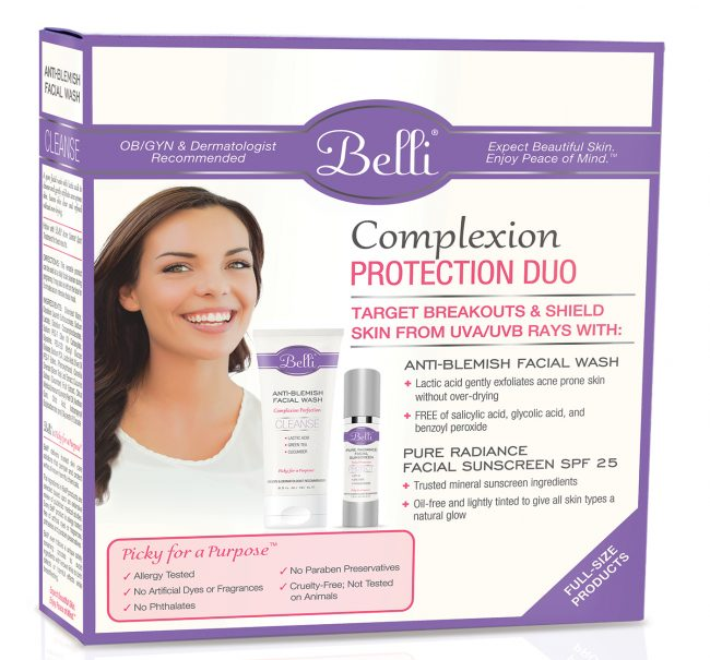 Beli Skincare Complexion Protection Duo, Pregnancy Facial Lotion and Suncreen