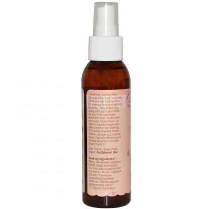 Ingredients list for Earth Mama Angel Baby New Bottom Spray