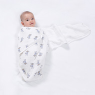 Aden and Anais How to Swaddle with Easy Muslin Wearable Swaddle Blanket Step 3