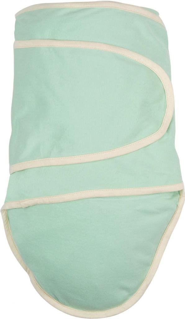 Miracle Blanket Green with Beige Trim