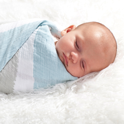 Liam the Brave Classic Swaddle Blanket for Baby Boys, Muslin Swaddles