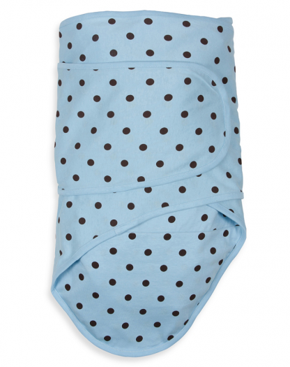 Blue with Chocolate Polka Dots Miracle Blanket
