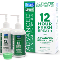 Smart Mouth Advanced Clinical Formula Activated MouthWash 12 Hour Fresh Breath 32 oz capacity