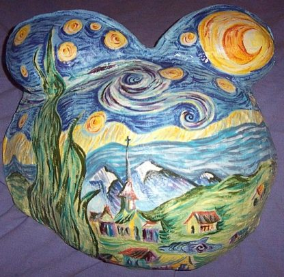 Proud Body Belly Cast Painted with Fairytale