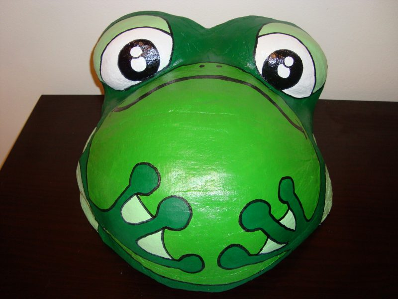 Proud Body Belly Cast Painted with Frog