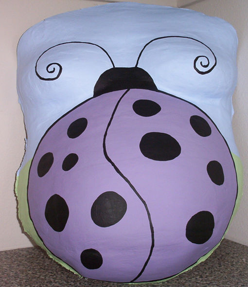 ProudBody Belly Cast Painted with Ladybug