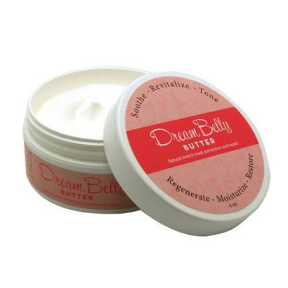 DreamBelly Stretch Mark Butter Lid on Side