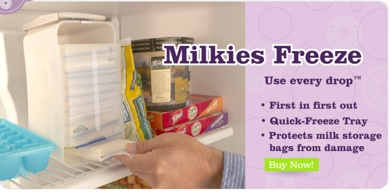 Milkies Freeze Breast Milk Storage in Freezer