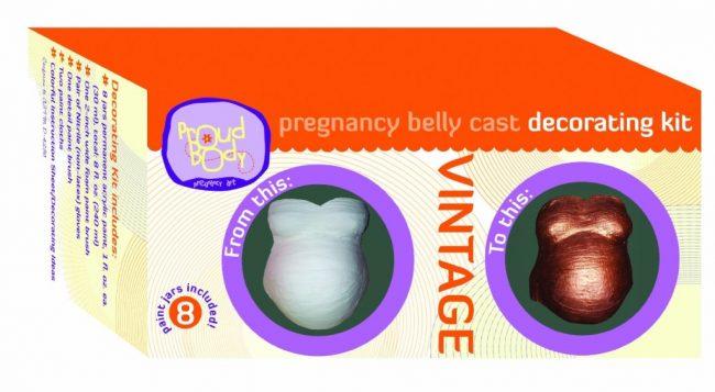 Vintage Proudbody Pregnancy Belly Cast Decorating Kit