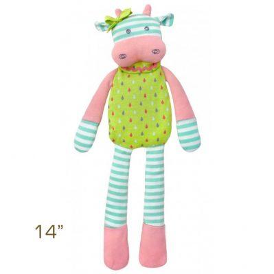 Organic Farm Buddies by Apple Park Belle Cow Plush Toy