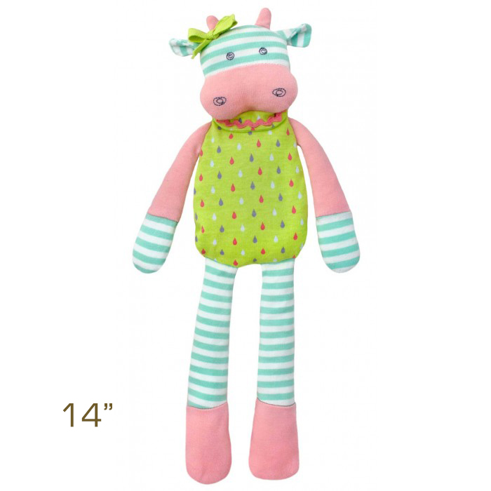 Organic Farm Buddies by Apple Park Belle Cow Plush Toy