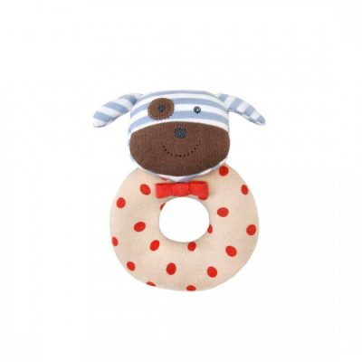 Organic Farm Buddies Boxer the Dog Organic Rattle by Apple Park
