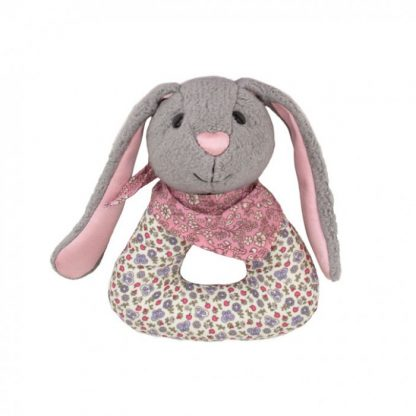 Bunny Organic Baby Rattle by Apple Park