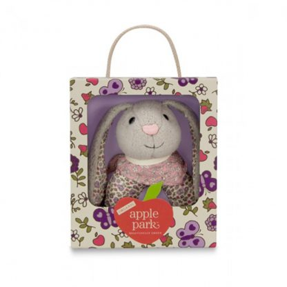 Apple Park Bunny Organic Patterned Rattle