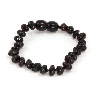 Momma Goose Cherry Baltic Amber Teething Bracelet