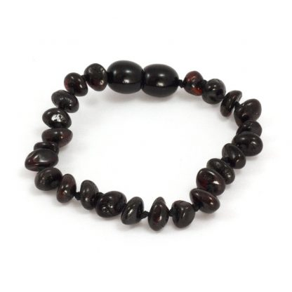 Momma Goose Cherry Baltic Amber Teething Bracelet