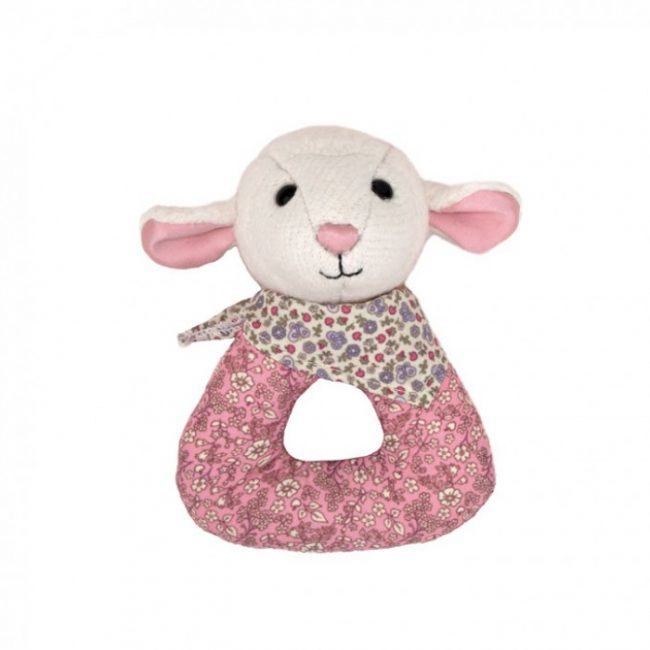 Apple Park Lamby Organic Baby Rattle