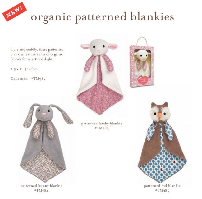 Apple Park Organic Patterned Blankie Collection