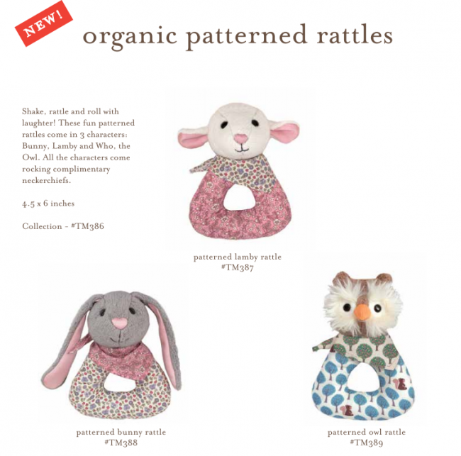 Apple Park Organic Patterned Rattles