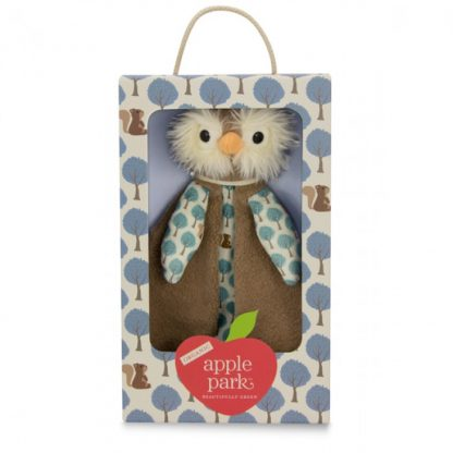 Apple Park Owl Organic Patterned Blankie