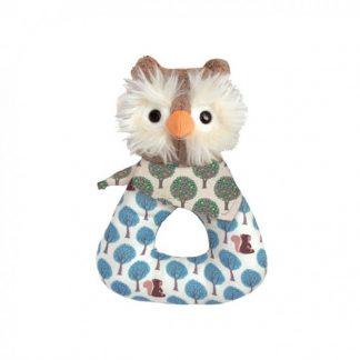 Apple Park Owl Organic Baby Rattle