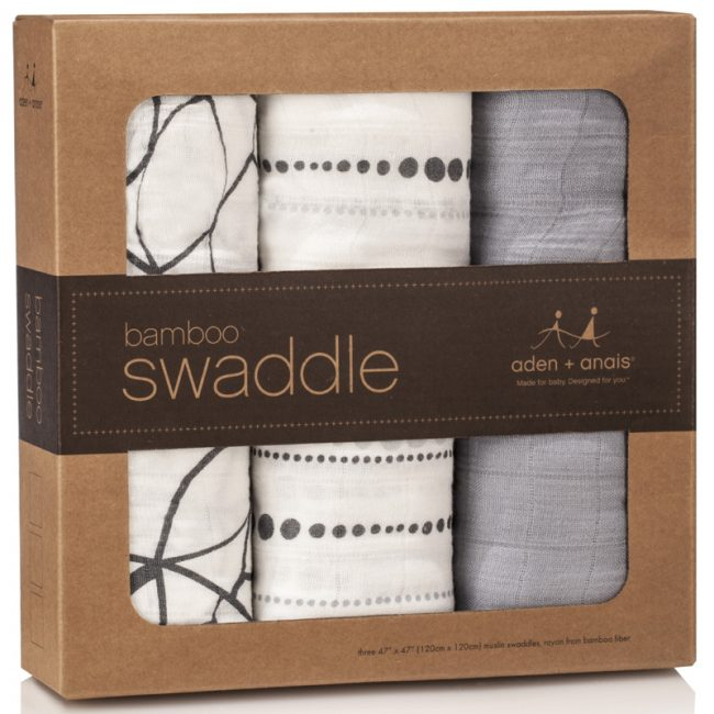 Aden and Anais Moonlight Bamboo Swaddling Blankets