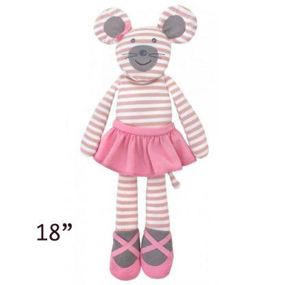 "Apple Park Organic Farm Buddies Ballerina Mouse 18"" Plush Toy"