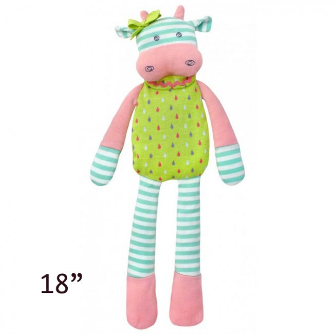 "Organic Farm Buddies Belle Cow 18"" Plush Toy by Apple Park"