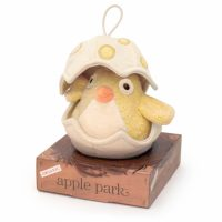 Apple Park Musical Baby Bird Pull Toy Yellow