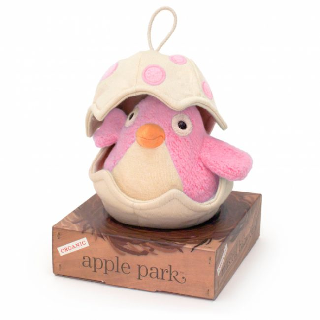 Apple Park Musical Baby Bird Pull Toy Pink