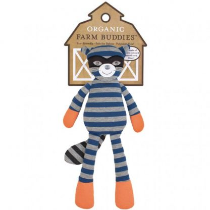 "Organic Farm Buddies Robbie Raccoon 14"" Plush Toy"