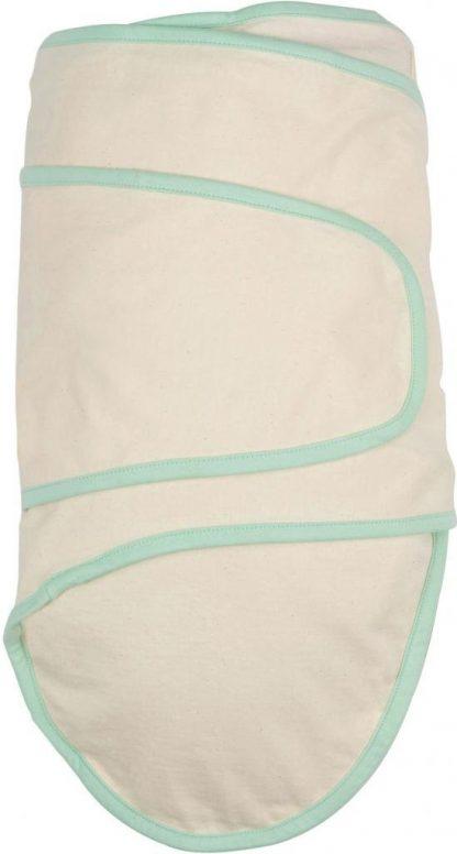 Miracle Blanket Beige with Green Binding