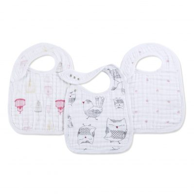 Aden and Anais Lovebird Snap Bib