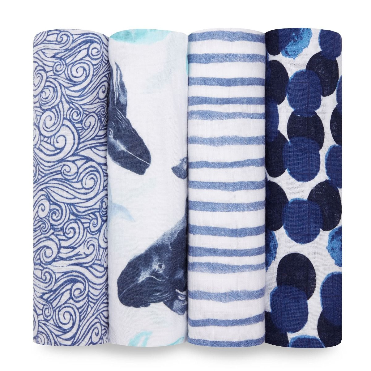 7073ad92bb 47″ Seafaring Classic Swaddle Blanket (4-Pack) by Aden + Anais ...