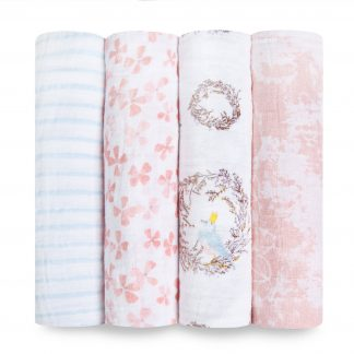 Aden + Anais Birdsong Classic Swaddle 4 Pack
