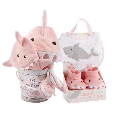 Baby Aspen Shark Baby Gift Set Bundle - Girl
