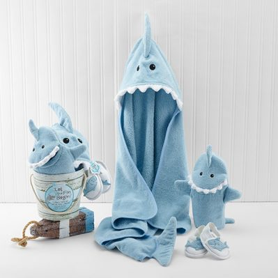 Baby Aspen Blue Shark Baby Gift Set Bundle - Boy
