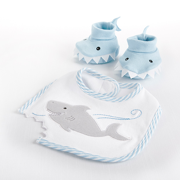Baby Aspen Blue Shark Baby Gift Set Bundle - Boy